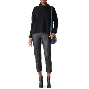 Leota Vegan Leather Nia Pants L High Rise Jersey